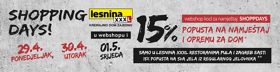 Shopping Days Lesnina XXL 29-30-04-01-05 Bilboard